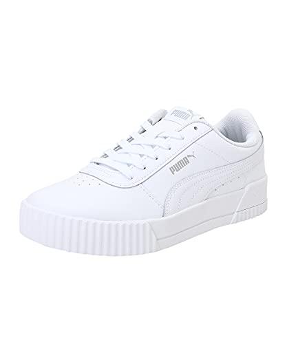 Puma Carina L, Zapatillas de Deporte Mujer, White White Silver, 40 EU