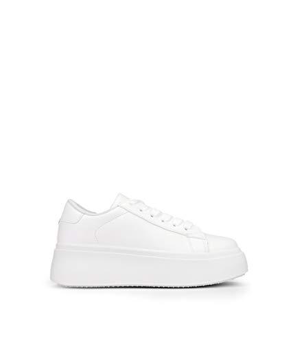 BOSANOVA Zapatillas Blancas Plataforma Blanco 39