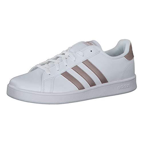 Adidas Grand Court K, Zapatillas, Multicolor Ftwwht Coppmt Glopnk 000, 38 2/3 EU