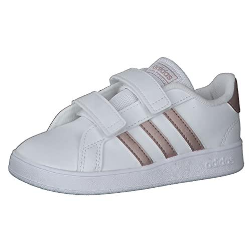 adidas Grand Court I, Sneaker, Multicolour Ftwwht Coppmt Glopnk 000, 23 EU