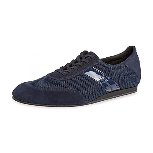 Diamant Zapatillas de baile para hombre 192-425-582-V, piel de ante y malla azul marino, tacón de cuña de 1,5 cm, suela VarioSpin, fabricadas en Alemania, azul marino, 41 1/3 EU Weit