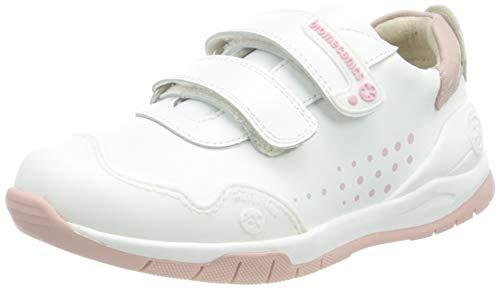 Biomecanics 182195, Zapatillas Unisex niños, Color Blanco Y Rosa, 26 EU