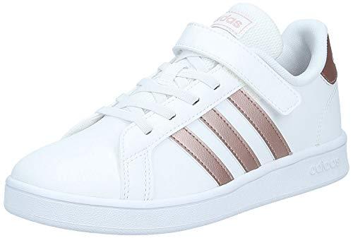 adidas Grand Court C, Sneaker, Footwear White/Vapour Grey Metallic/Light Granite, 35 EU