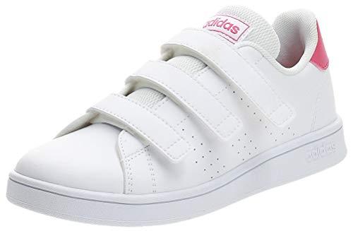 adidas Advantage C, Zapatillas, Cloud White/Real Pink/Cloud White, 34 EU