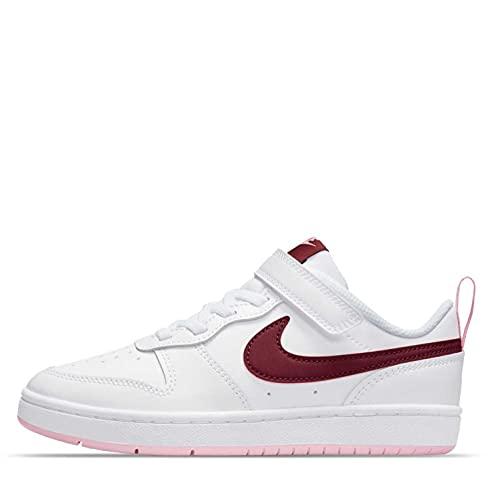 Nike Court Borough Low 2, Zapatillas de bsquetbol, Blanco Burdeos, 39 EU