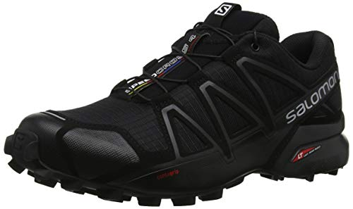 SALOMON Speedcross 4, Zapatillas de Trail Running Hombre, Negro (Black/Black/Black Metallic), 43 1/3 EU