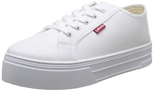 Levi's Tijuana, Zapatillas para Mujer, Blanco (Sneakers 51), 39 EU