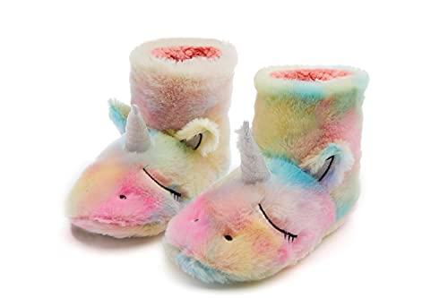 Botas de felpa de unicornio Botas de felpa para adultos Botas de algodón de invierno Novedad Holiday Idol