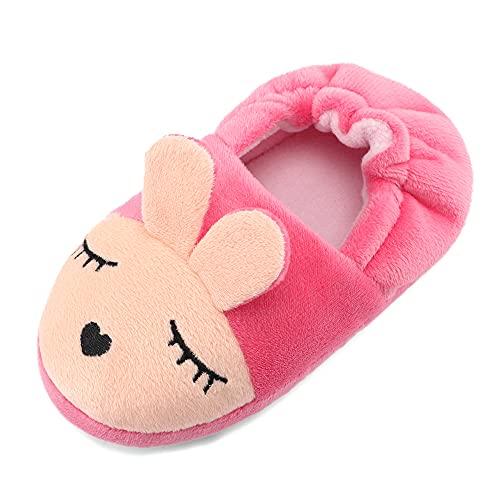 MK MATT KEELY Zapatillas de Estar por Casa para Niñas Niños Animales Pantuflas de Invierno de Cálido Felpa Antideslizante