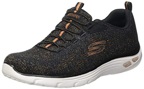 Skechers Empire D'LUX She Glitters, Zapatillas Mujer, Bkrg, 37 EU