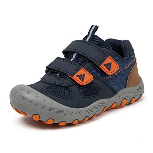 Zapatos de Bambas Niños Niña Zapatillas Senderismo Antideslizante Caminando Trekking Sneakers Azul 25 EU