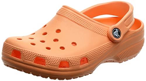 Crocs Classic Clog K Unisex Niños Zuecos, Naranja (Tangerine), 25/26 EU