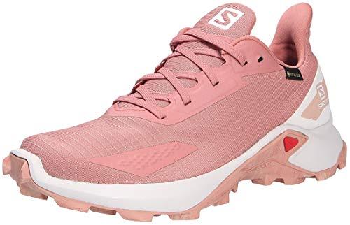 Salomon Alphacross GTX Zapatillas Impermeables Mujer De Trail Running, Rosa (Brick Dust/Lunar Rock/Sirocco), 36 EU