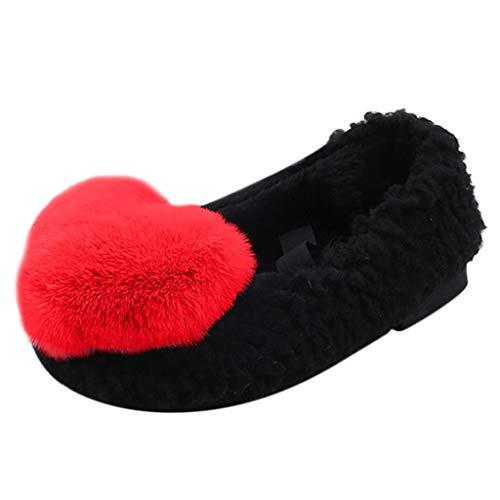 Cinnamou Zapatos para Bebés Suaves Peludo conejito Lindo Mocasines para NiñOs Niñas Zapatillas