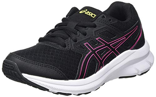 Asics Jolt 3 GS, Road Running Shoe, Black/Hot Pink, 39 EU