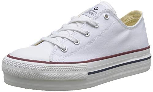 Victoria Basket Lona Plataforma Autoclave, Zapatillas para Mujer, (Blanco 20), 37EU