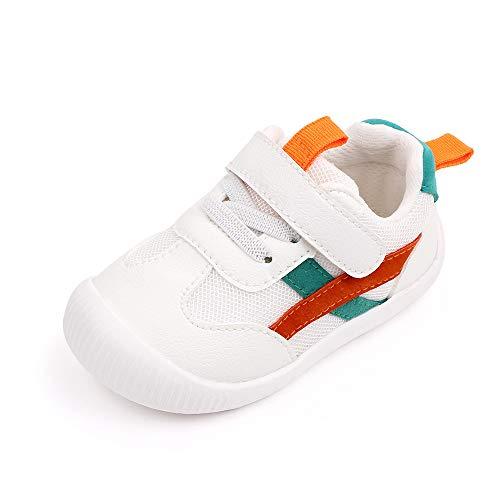 MK MATT KEELY Zapatillas para Bebé Primeros Pasos Zapatos Niño Niña Cuero PU Suela Suave Antideslizante 0-4 años