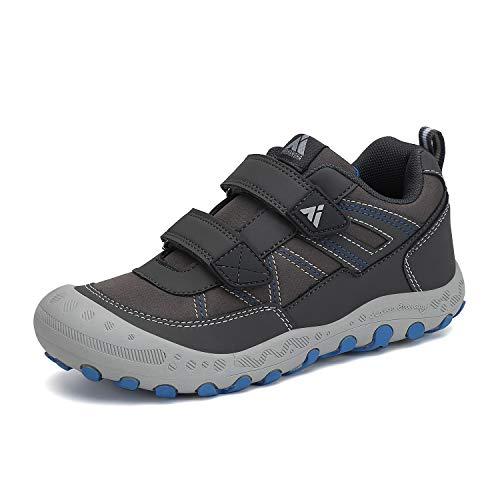 Mishansha Zapatillas Senderismo Antideslizante Niña Niño Zapatos Montaña Transpirable Sneakers Gris 28 EU