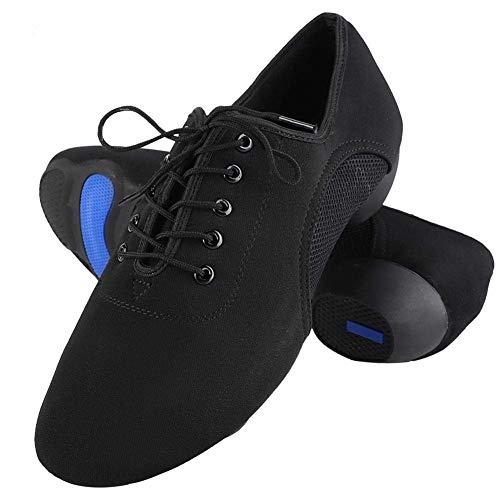 Tbest Zapatos Baile Latino Hombre Mujer,Zapatillas de Baile Latino Danza Suaves y Cómodos Zapatos Latinos de Salón Zapatos de Baile Modernos al Aire Libre para Salsa Latina Tango(44)
