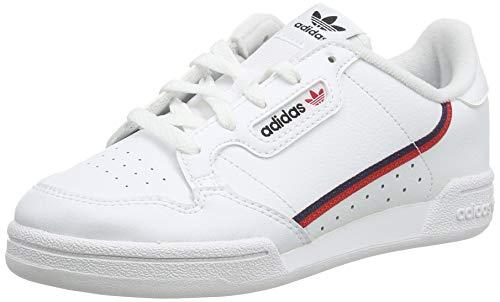 adidas Continental 80 C, Zapatillas de Deporte, Blanco (Ftwbla/Escarl/Maruni 000), 35 EU