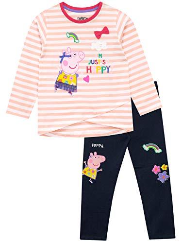 Peppa Pig - Conjunto de Top y Leggings para niñas - Peppa - Multicolor - 4-5 Años