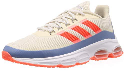 Adidas QUADCUBE, Zapatillas Running Hombre, Multicolor (Chalk White/Solar Red/Glory Blue), 45 1/3 EU