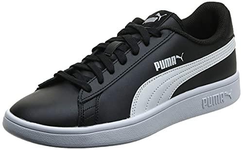 PUMA Smash V2 L, Zapatillas Bajas Unisex-Adulto, Negro (Black/White), 43 EU