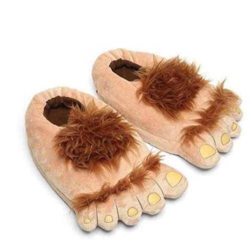 1 Par De Zapatillas De Felpa Monstruo Aventura De La Novedad De Invierno Pies Grandes Zapatillas Creativo Bigfoot Zapatos Calientes Pies Invierno Hobbit Zapatos De Interior Para Adultos De Los Niños