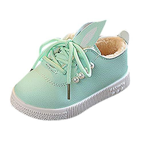 Cinnamou Zapatos de Cordones para Bebés, MáS Terciopelo conejito Lindo Zapatillas de La Princesa Antideslizante Zapatos de deporte para NiñOs Niñas