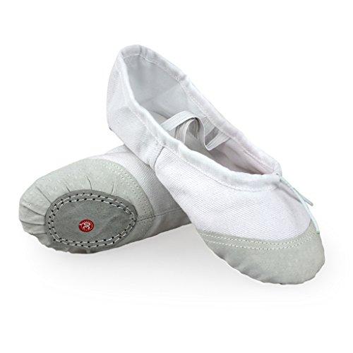 DoGeek Transpirable Zapatos de Ballet Zapatillas de Ballet de Danza Baile para Niña Talla 33