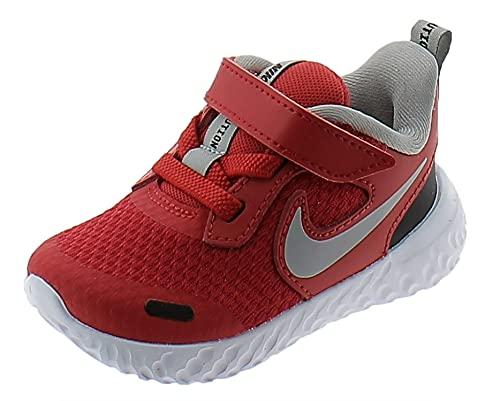 Nike Revolution 5 (TDV), Zapatos Unisex niños, University Red/Lt Smoke Grey-B, 27 EU