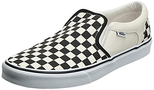 Vans Asher Sneaker, Zapatillas Hombre, Blanco (CheckersWhite IPD), 43 EU