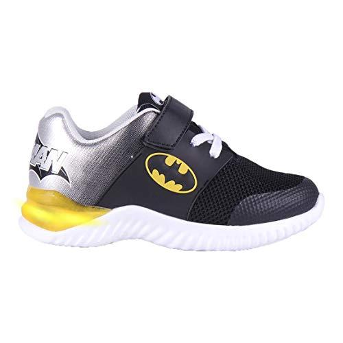 Cerdá Life'S Little Moments Zapatillas con Luces para Niños de Batman con Licencia Oficial de DC Comics, Deportivas, Multicolor, 27 EU
