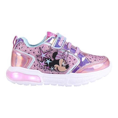 Cerdá Life'S Little Moments Zapatillas con Luces para Niñas de Minnie Mouse con Licencia Oficial Disney, Deportivas, Multicolor, 30 EU
