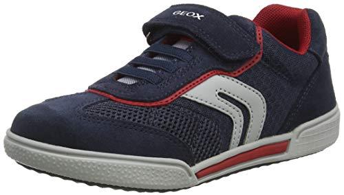 Geox J POSEIDO Boy D, Zapatillas, Azul (Navy/Red C0735), 30 EU
