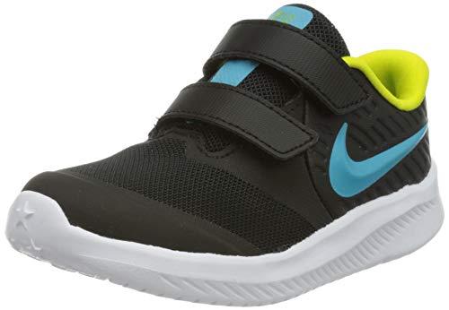 Nike Star Runner 2 (GS), Running Shoe, Black/Chlorine Blue-High Voltage-White, 40 EU