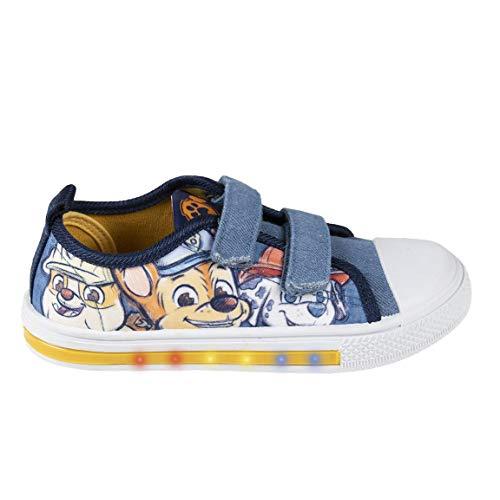 CERDÁ LIFE'S LITTLE MOMENTS 2300004863_T025-C56, Zapatillas de Lona Bajas para Niños de la Patrulla Canina-Licencia Oficial Nickelodeon, Azul, 25 EU