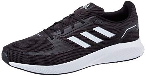 adidas Runfalcon 2.0, Sneaker Hombre, Core Black/Footwear White/Grey, 45 1/3 EU