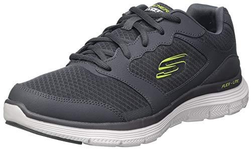 Skechers Flex Advantage 4.0, Zapatillas para Caminar Hombre, Azul/Blanco (Hojas), 44 EU