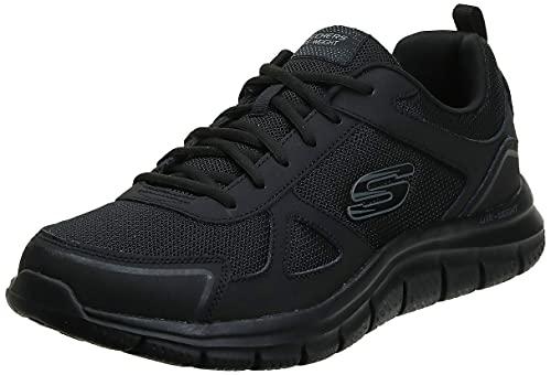 Skechers Track-scloric 52631-bbk, Zapatillas Hombre, Negro (Black 52631/Bbk), 43 EU