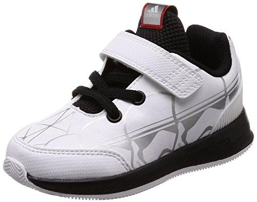 Adidas Starwars RapidaRun I, Zapatillas de Estar por casa Unisex niños, Blanco (Ftwbla/Negbas/Escarl 000), 20 EU