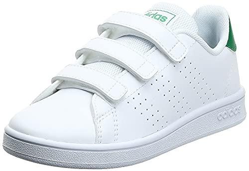 adidas Advantage C, Zapatillas de Tenis Unisex niños, Multicolor Ftwbla Verde Gridos 000, 29 EU