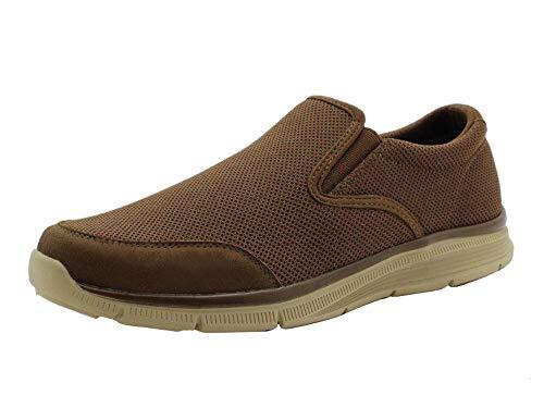 Amazon Essentials Men's Sport Casual Slip On Sneaker, Brown, 12 Medium US