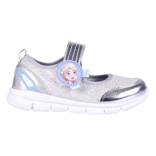 Cerdá Life'S Little Moments Zapatos Merceditas Deportivas Niña Frozen con Licencia Oficial Disney, Zapatillas, Plateada, 28 EU