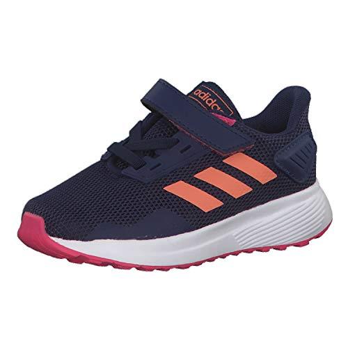 Adidas Duramo 9 I, Zapatillas de Estar por casa Unisex niños, Multicolor (Azuosc/Semcor/Rosrea 000), 25 EU