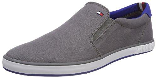 Tommy Hilfiger Iconic Slip On Sneaker, Zapatillas Hombre, Gris (Steel Grey 039), 41 EU