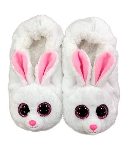 Ty Fashion PANTOFOLE Bunny Large Taglia 35/37, Pantuflas Niñas, Bianco, EU