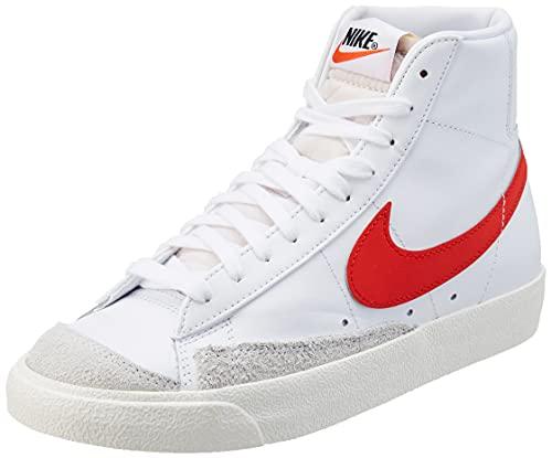 Nike W Blazer Mid '77, Zapatillas de bsquetbol Mujer, White Habanero Red Sail, 36 EU