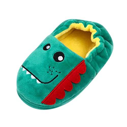 Zapatos Animales Mujer pelucheInvierno Peluche Piel Zapatillas Casa Niños Babuchas Comoda Caliente Peludas Slippers Ortopedicas Pantuflas Botines Antideslizante Disfraz Animales (Menta verde, 5)