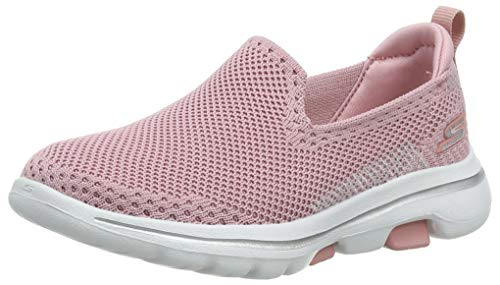 Skechers Go Walk 5, Zapatillas sin Cordones Niñas, Rosa (Light Pink Ltpk), 34 EU